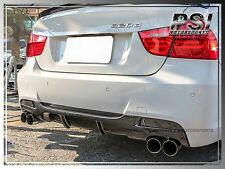 E90 M- Tech Carbon Fiber Bumper Rear Diffuser 4Dr 06-11 BMW P-Style M-Sports