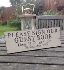 Personalised ❤️ Wedding Sign ❤️ Please Sign Our Guest Book