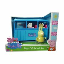 Peppa Pig's Toy School Bus Includes Miss Rabbit Figure & Sounds NEW BOXED