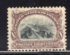 US:1901 8c PAN AMERICAN EXPO (298) Nearly perfectly centered used SMQ @ $600.00+
