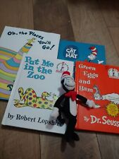 Dr Seuss. Cat In The Hat Book Lot + plush Stuffed Toy from the movie (2003)