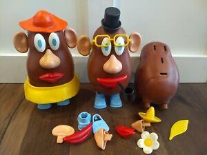Vintage Original 70s Mr. and Mrs. Potato Head Lot Figures Accessories