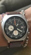 Chronograph Diver Lemania Cal. 1341 Great Condition Perfectly Working Steel 43mm