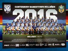 ✺New✺ 2016 CANTERBURY BULLDOGS NRL Poster - 42cm x 29.5cm
