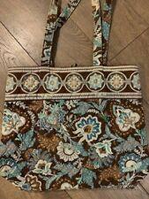 Vera Bradley Java Blue Shoulder Bag Button Closure
