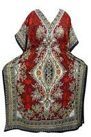 Beautiful Long Kaftan~Indian Maxi Dress~Boho Beach Caftan~Casual Wear Orange