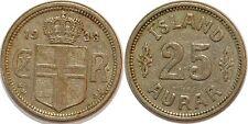 ICELAND 25 AURAR 1933 KM#2.1