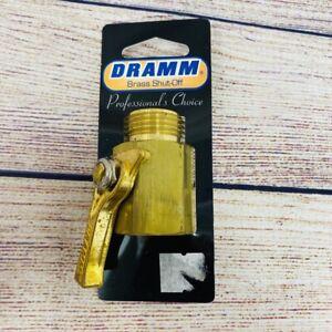 "Dramm Heavy-Duty Brass Shut-Off Valve 3/4"" Model No 12353, Brand New!"