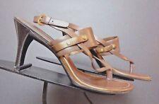 Women's Cole Hann Brown/Copper Leather Slingback Pumps Sz. 6.5M EXCELLENT