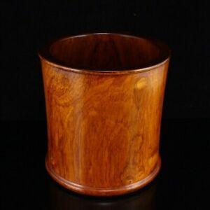 Superb Chinese Hainan Huanghuali Wood Brush Pot