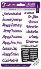 Diesire Essentials Metal Conjunto Crafters Companion muere celebración palabras