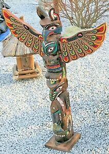 Totempfahl 100cm Marterpfahl Indianer Pfahl, Wappenpfahl totem pole totem stake