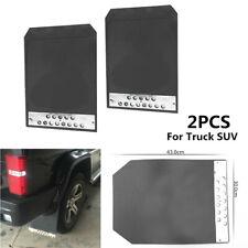2x Car 43*30cm Basic Mounting Truck SUV Front Rear Fender Mud Flaps Splash Guard
