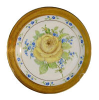 Noritake Ashford Fine China Gold Rimmed Bowl With Yellow Rose 9136 Shabby French