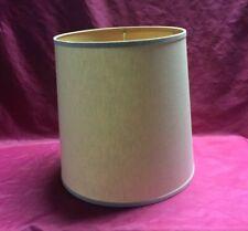 Vintage Mid Century Modern Drum Lamp Shade, Barrel Linen Retro
