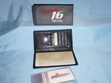 Greg Biffle #16 NASCAR  Embroidered Leather CHECKBOOK +   NEW