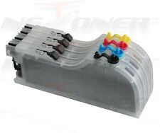 4 Full Refillable Ink Cartridges for Brother LC-51 FAX-2480 DCP-130C 330C 350C