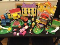 Large Peppa Pig Bundle, princess caste, houses, figures, accessories etc