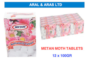 ✅ 12 x 100g STRONG MOTH BALLS / TABLETS / PEST CONTROL  (12 BOXES IN CASE) ✅