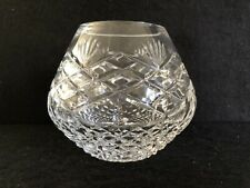 "Signed Crystal Small Table Vase - 9cms (3½"") Tall - Signed"