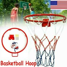 32cm Hanging Basketball Wall Mounted Goal Hoop Rim Net Sports Netting Indoor