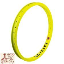 "ODYSSEY HAZARD LITE 36H FLOURESCENT YELLOW 20"" x 1.75"" BMX BICYCLE RIM"