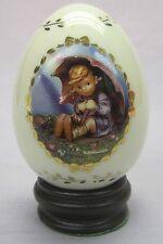 """M.J. Hummel Porcelain Egg from Danbury Mint 1996 """"Umbrella Girl"""""""