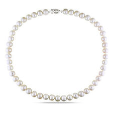 """18"""" 9-10 mm Freshwater White Pearl Necklace with Clasp"""