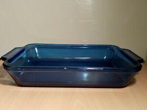 Vintage Anchor Hocking USA Cobalt Bristol Blue Glass Oven Dish Pyrex Unused