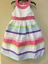 New size 6 Gymboree  DRESS Striped Bow Dress special occasion girls flower girl