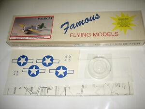 "Easy Built Grumman F4F Wildcat 20"" Ws Balsa Wood Flying Model Airplane Kit EB09"