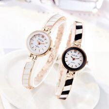 Women's Ceramics Band Rose Gold Stainless Steel Round Cross Line Quartz Watches