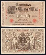 1000 mark Reichsbanknote Germany 1910  qSPL/XF-  <
