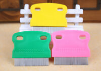 Hair Lice Nit Pets Flea Egg Dirt Dust Remover Steel Tooth Comb Health Brush MOAU