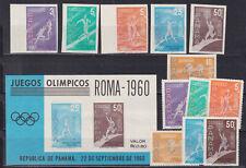 panama 1960 Sc 433/4,C234/7 olympics,roma,set,per + imperf. MNH       p2243