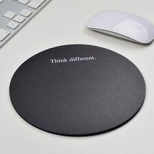 Think Different Black environ Dérapant Tapis de Souris Tapis de souris apple Windows OS X