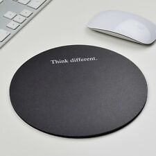 Think different Black rund Mousepad Mauspad tapis de souris Apple Windows OS X