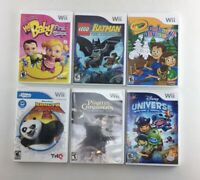 Lot of 6 Nintendo Wii Games - Fast Free Shipping - A12