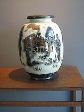 TRES GRAND VASE SIGNE ROGER GUERIN  Keramis , grès de Bouffioulx , Haut.46 cm