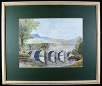 Original Irish Art Watercolour Painting Signed c1930s-1950s