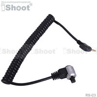 Camera Remote Switch Shutter Release Cable Cord—2.5mm to RS-C3 Plug for Canon