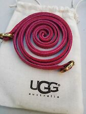NEW pair Authentic UGG PLUM COLOR shoes Leather String with golden color buckles