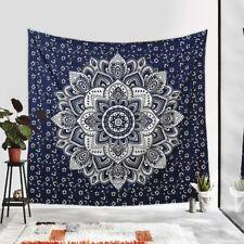 Bohemian Blue Tapestry Mandala Bedding bedspread hippie Wall Hanging Beach Throw