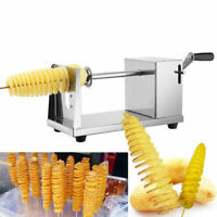Manual Stainless Steel Twisted Apple Potato Slicer Spiral French Fry Cutter US