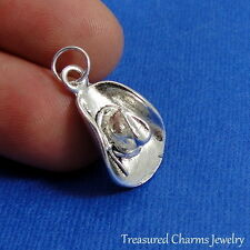 Silver COWBOY HAT Country Western CHARM PENDANT *NEW*