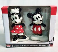 NEW Walt Disney Mickey Mouse & Friends Minnie Ceramic Salt & Pepper Shakers Set
