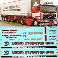 Volvo F16 Svend Espensen Int. RIBE Denmark 1:87 Truck Decal LKW Abziehbild