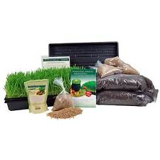 ORGANIC WHEATGRASS GROWING KIT W/ HURRICANE STAINLESS STEEL WHEAT GRASS JUICER