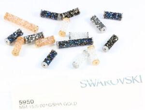 Genuine SWAROVSKI 5950 Fine Rock Tube Beads with Metal Endings * Many Colors