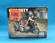 Mega Bloks Call of Duty Collector Series Sidecar Pursuit 76 Pieces New Sealed